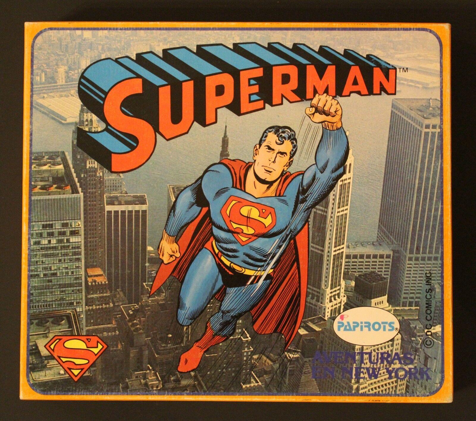 1980 Papired SUPERMAN  NY ADVENTURE  Spanish vintage board game w  SEALED figure