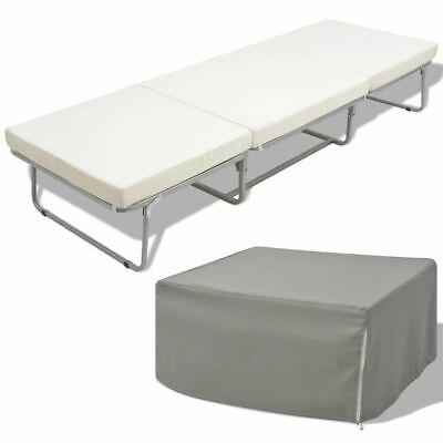 Vidaxl letto sgabello pieghevole singolo con materasso in acciaio 200x70 cm ebay - Letto pieghevole con materasso ...