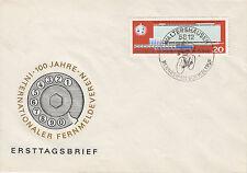 DDR FDC Ersttagsbrief 1966 Mi.1178 Sonderstempel Rennreifen Waltershausen