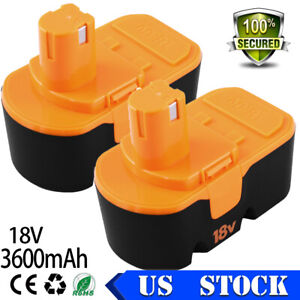 P100 P107 P102 P104 P105 2PACK 3.6Ah 18V for Ryobi Battery Replace 18 Volt ONE