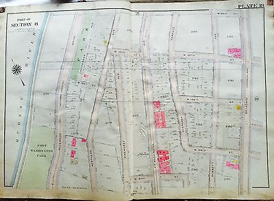 Bromley Washington Heights Manhattan Ny Copy Map Atlas W183-w189 St Tireless 1919 G.w Maps, Atlases & Globes Antiques