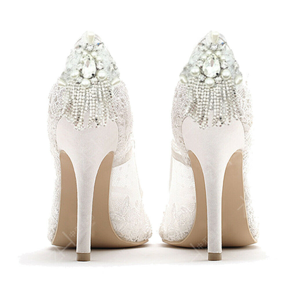 1 Pair Crystal Pearls Shoe Clips Vintage Shoe Charms High Heel Decoration
