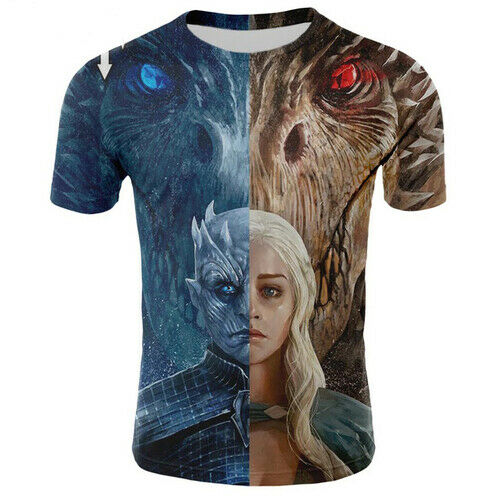 GAME OF THRONES Poster Casual Femme T-shirt Hommes 3D Imprimé à manches courtes Tee Tops