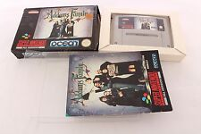 Snes Super Nintendo The Addams Family Pal Game + ProtectorCases