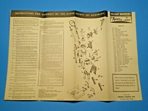Aurora-CROWN-1956-034-SILVER-KNIGHT-034-Original-Model-kit-Instruction-sheet-L-K