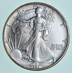 Lot of 3 American Silver Eagles 1990 1991 1993 1 oz .999 Fine Silver Dollars