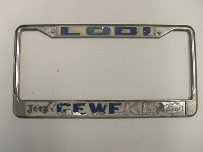 Lodi Geweki Jeep Ford Dealership License Plate Frame Metal