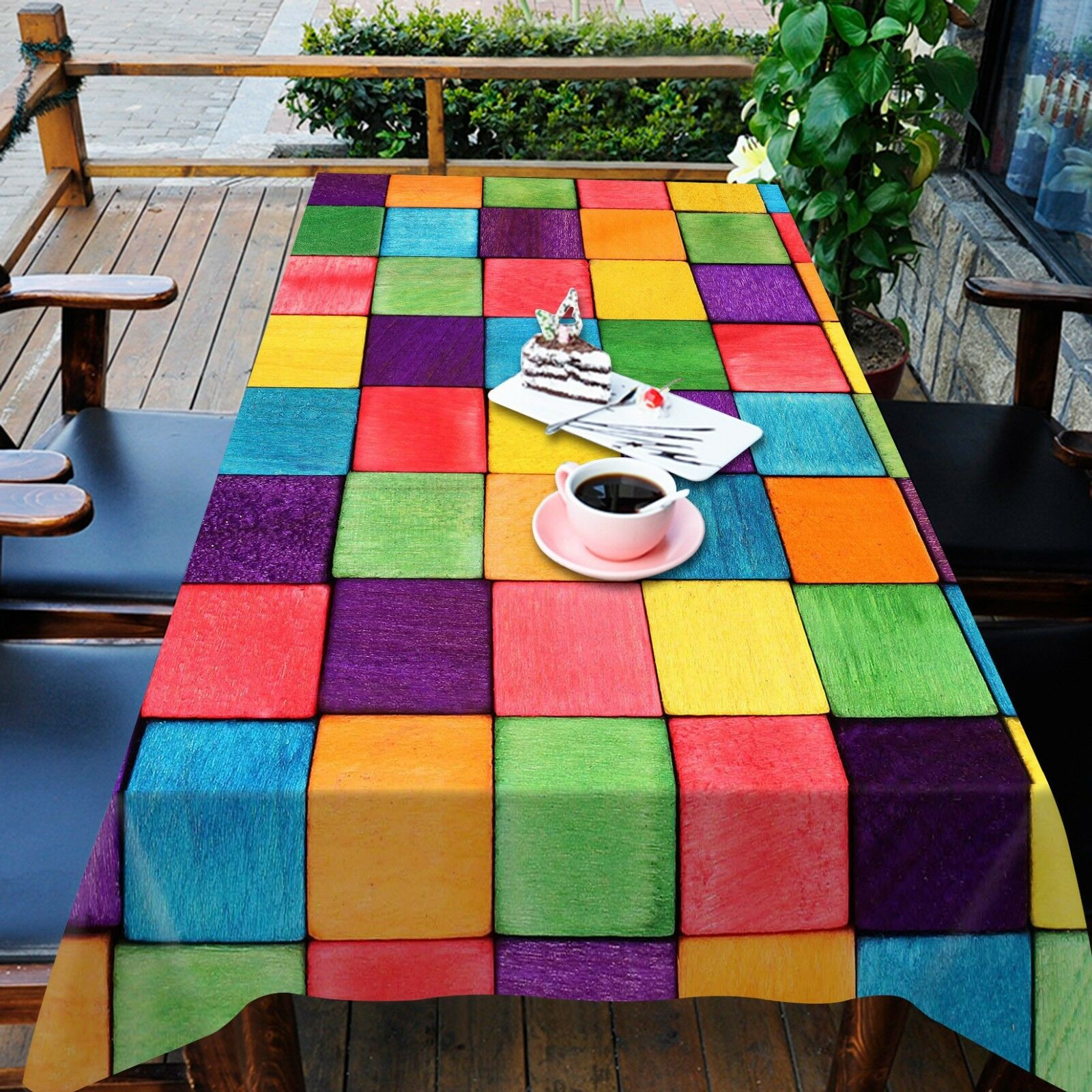 3D Couleur box 8 Tablecloth Table Cover Cloth Birthday Party Event AJ WALLPAPER AU