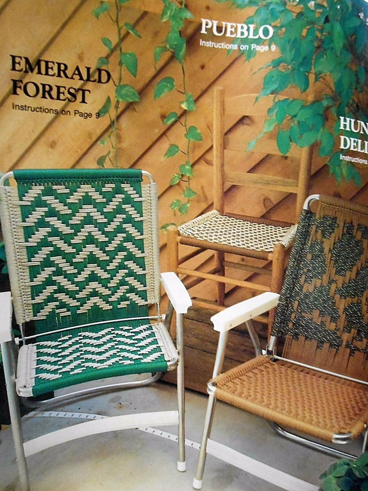 Macrame Lawn Chair Patterns Seats 15 Geometric Designs For Sale Online