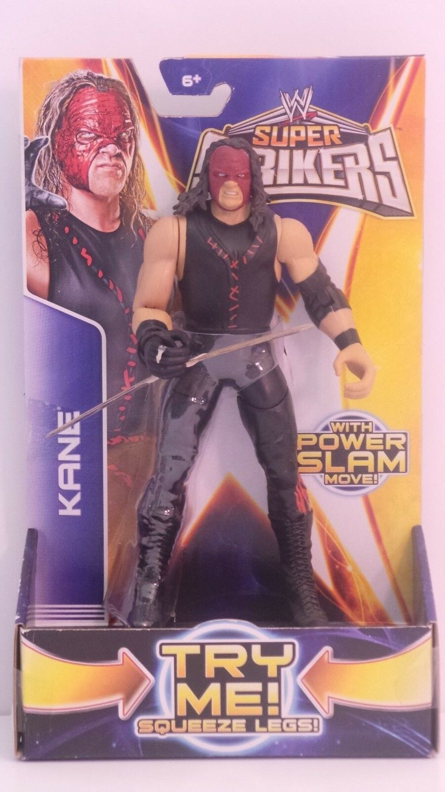 WWE Super Strikers Kane Try Me Squeeze Legs Action Figure 024