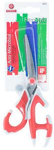 Mundial-FreeStyle-True-Left-Hand-Scissors-5-1-2-in-Ergonomic-Handles-Red
