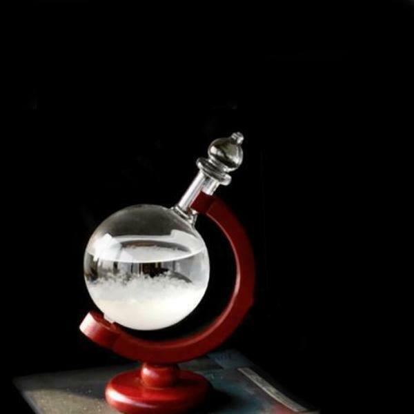 Weather Forecast Glass Crystal Bird Shape Storm Bottle Home Decor Art L0Z1