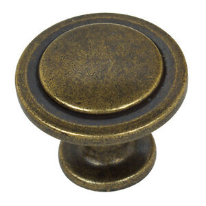 "1045-AB-1 GlideRite 3-1//4/"" Small Classic Cabinet Knob Backplate Antique Brass"