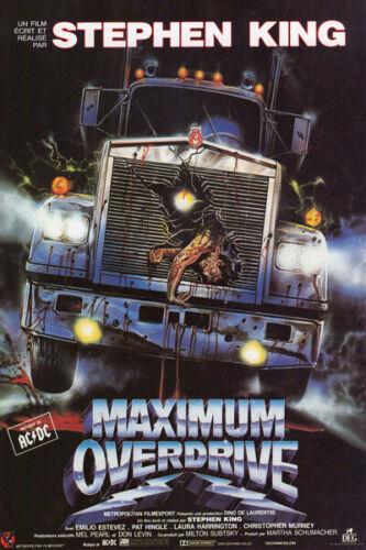 P157 Art Decor Maximum Overdrive Stephen King Classic Horror Movie Silk Poster