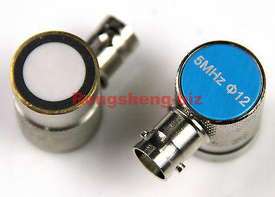New 5MHz 12mm Probe Sensor Transducer for Ultrasonic Flaw Detector Q9 Connector