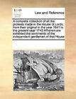 A Complete Collection of All the Protests Made in the House of Lords, from Their Original in the Year 1641 to the Present Year 1745 Wherein Are Exhibited the Sentiments of the Independent Gentlemen of That House by Multiple Contributors (Paperback / softback, 2010)