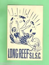 #D65.  1953 LONG REEF SURF LIFE SAVING CLUB BALL PROGRAM & TICKETS, SIGNED