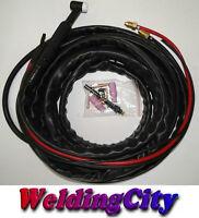 Tig Welding Torch Wp-18fv-25r 25-ft Flex-head Valve 350a Water-cool   Us Seller