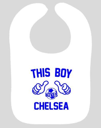 Chelsea Babero Dribble en este muchacho ama a Chelsea FC Fútbol muselina eructo Babero Nuevo