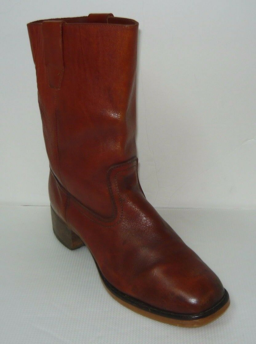 Vintage marron Genuine Leather campus bottes Sz 11
