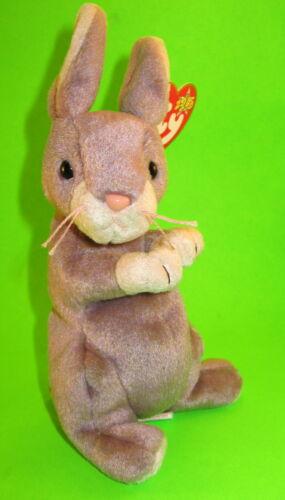 TY Beanie Baby Springy Lavender Bunny Rabbit MWMT Birthday February 29 2000