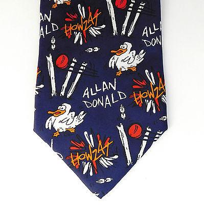 Allan Donald cricket tie WCCC Benefit Year 1999 Warwickshire novelty duck silk