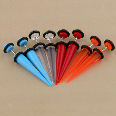 5pcs16G Acrylic Ear Plug Taper Kit Gauges Expander Stretcher Piercing