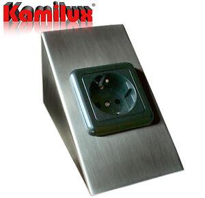 Details zu Unterbausteckdose Steckdose mit VDE Kindersicherung Küche  Arbeitsplatte 230V