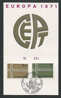 Humor Belgien Mk 1971 Europa Cept Taube Dove Pigeon Carte Maximum Card Mc Cm H1326 SchöNer Auftritt Maximumkarten Briefmarken