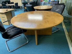 Burr Oak Veneer Circular Office Meeting