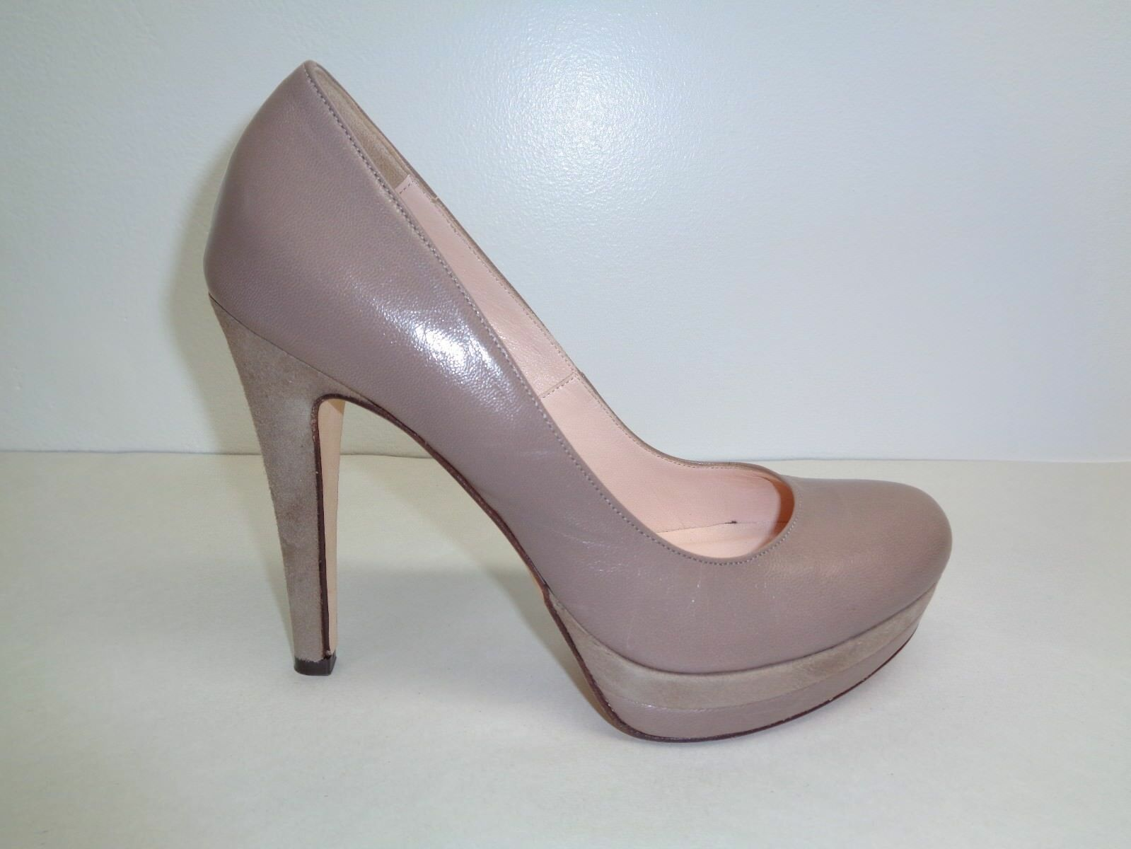 Charles David Size 9.5 M DONATI Taupe Leather New Womens Heels Pumps shoes