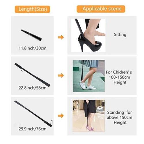Details about  /Shoe Horn Detachable Wear Shoe Helper Lifter Shoe Spoon Tool with Long Handle