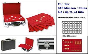 Lindner-2338-616-coin-case-ALU-Black-8-Tableaux-Red-0-15-16in-For-616-Coins