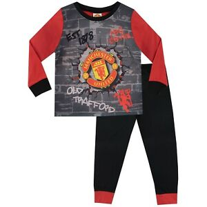 great variety models official price super cute Details about Manchester United FC Pyjamas   Kids Man United Football PJ    Boys United F.C. PJ
