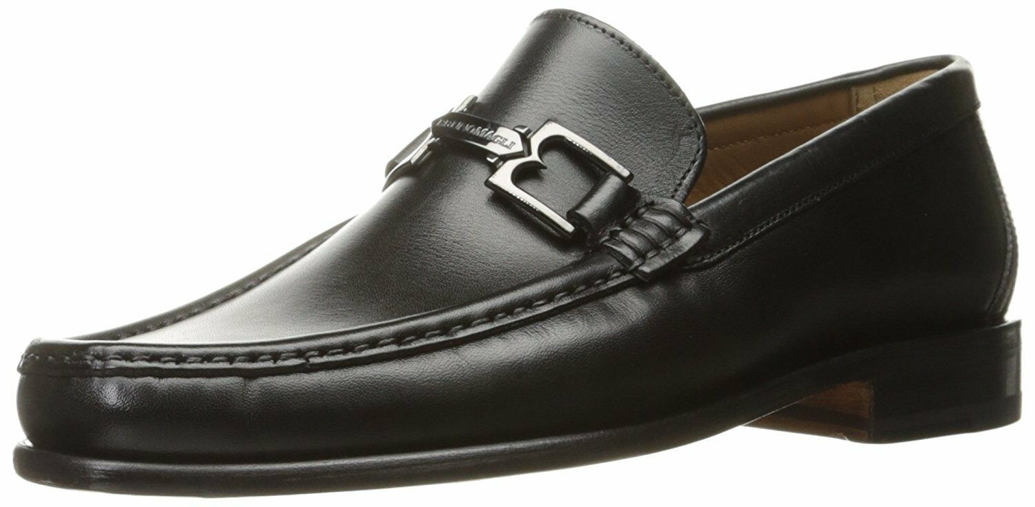 Bruno Magli Men's Bigolo nero Leather Bit Handmade Italian Loafer Dress scarpe