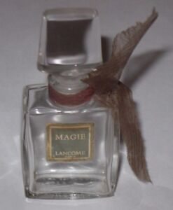"1/2 Oz Open/empty 3"" Maggie Vintage Lancome Glass Perfume Bottle & Stopper"