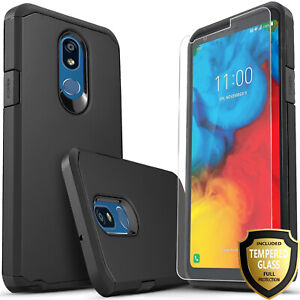 For-LG-K40-Solo-LTE-K12-Plus-Phone-Case-Cover-Tempered-Glass-Protector
