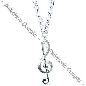 Collana-Chiave-Di-Violino-Sol-Musica-Lunga-Regolabile-Ciondolo-Argento-Tibetano