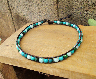 Turquoise Anklets,aventurine Anklets,jasper Anklets,leather Anklets,stone Anklet Refreshing And Enriching The Saliva Jewelry & Watches