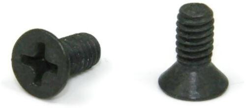Black oxyde Inoxydable Phillips Tête Plate Vis mécanique 1//4-20 x 5//8 Qté 25