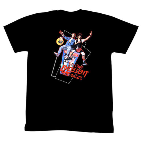 Bill /& Ted/'s Excellent Adventure Men/'s T Shirt Flying Phone Booth Keanu Movie