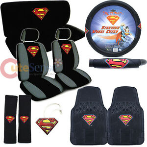 Image Is Loading DC Comics Superman Car Seat Cover Set Color