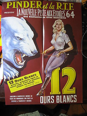 Affiche collection cirque Pinder 12 ours blancs