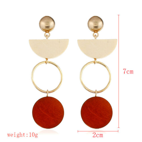 Womens Lady Gold Plated Geometry Earrings Ear Stud Dangle Drop Statement Jewelry
