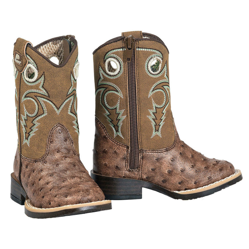Twister Double Barrel Brant Toddler and Kids Square Toe Western Boot NEW