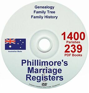 Family-History-Tree-Genealogy-England-Phillimore-Marriages-Registers-Records-DVD
