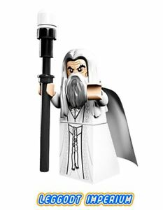 LEGO-Minifigure-Saruman-with-staff-Lord-of-the-Rings-Hobbit-lor074-FREE-POST