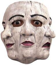 Commedia di Papiere Trifaccia 3 Faces Adult Latex Mask Masquerade Venetian Style