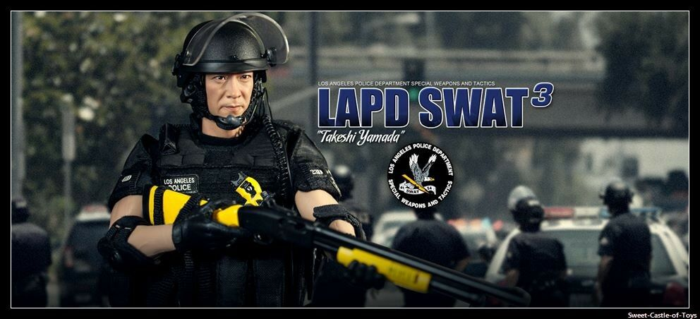 1 1 1 6 DID Action Figure Los Angeles Police LAPD SWAT 3.0 Takeshi Yamada MA1008 3d6341