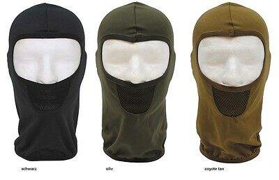 - Sturmhaube Balaclava Maske | TACTICAL - dünn 1 Loch / wählbar - BW Kart Biker